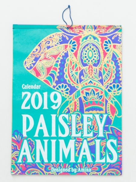 【2019年カレンダー】PAISLEY ANIMALS