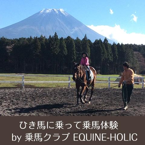 キャンプ ワークショップ ひき馬に乗って乗馬体験