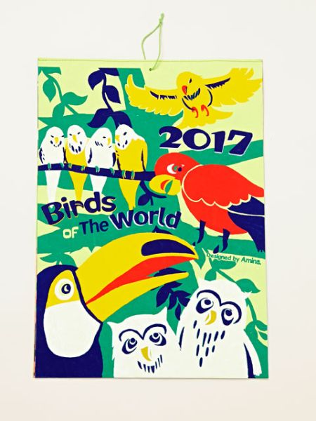 2017年カレンダー BIRDS OF THE WORLD